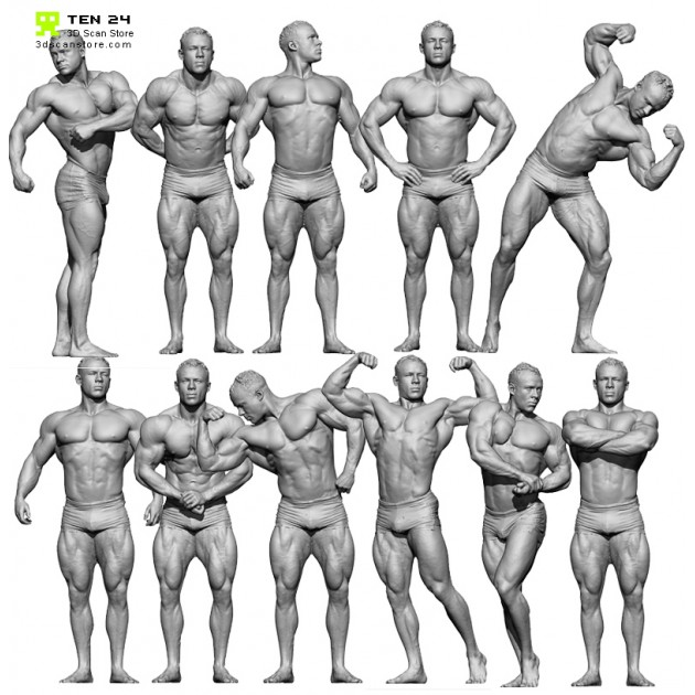Bodybuilder Bundle + Render Scene