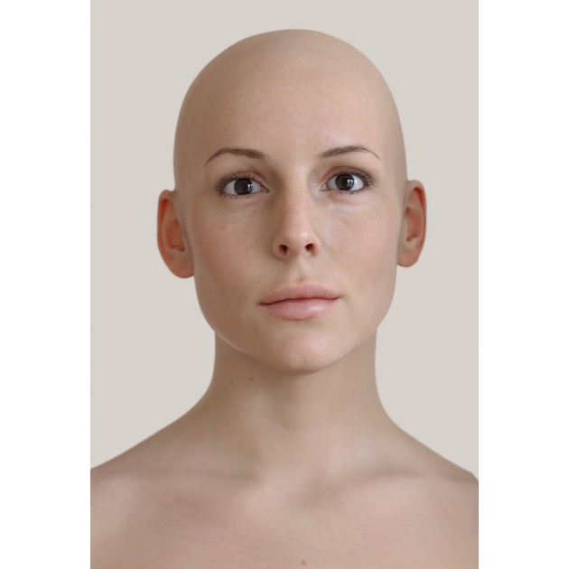 Female 04 Animation Ready Head Scan + Render scene