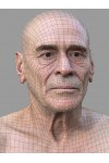 Male 01 Animation Ready Head Scan + Render scene
