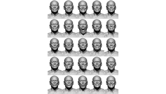 3d Head Scan Expression Sheets