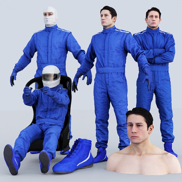 Male Racing Driver Bundle
