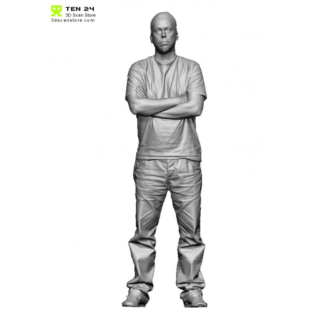 Shaded Male 03 Tshirt Arms Folded