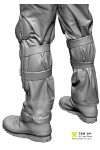 Shaded Male 02 Knee pads