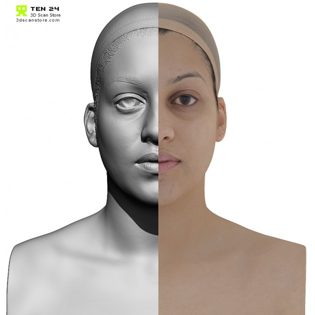 Female 10 Head Scan Cleaned